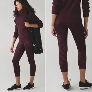 Lululemon Wunder Under Crop Shifted Horizon